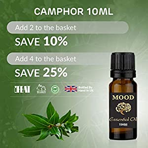 Essential Oils 10ml Pure & Natural Aromatherapy – Choose Fragrance (Camphor)