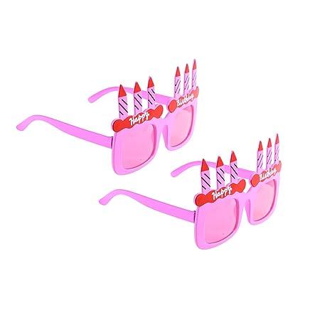 BESTOYARD 2PCS Feliz cumpleaños Vela Gafas de Sol Novedad ...