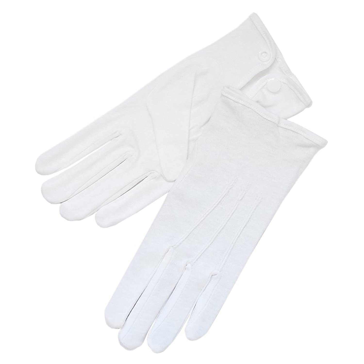 Edwardian Men's Accessories 100% Cotton Mens Gloves with Snap Closure  AT vintagedancer.com