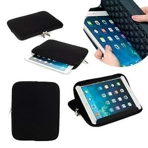 Neotechs® - Funda de Neopreno Acolchada Negra con Soporte, para Transporte de Apple iPad 2 3 4 y 5 Air
