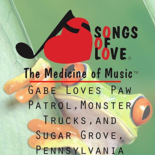 Gabe Loves Paw Patrol, Monster Trucks, and Sugar Grove, Pennsylvania