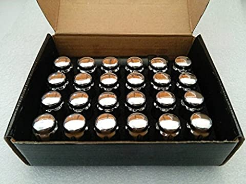 AccuWheel LNS-12150C6 Small Diameter Acorn Spline Drive Chrome Lug Nuts with Key (12mm x 1.5 Thread Size) - Pack of 24 - Small Diameter Tuner Lug Nuts