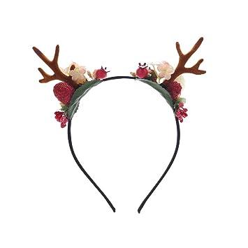 Christmas Headband For Adults.Amazon Com Frcolor Novelty Christmas Deer Antler Headband