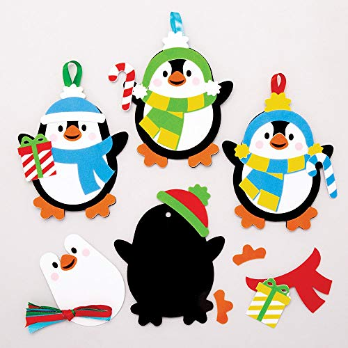 Baker Ross Penguin Mix & Match Decoration Kits, Christmas Arts and Crafts (Pack of 6) (Penguins Crafts Christmas)