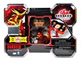 Spin Master Year 2010 Bakugan Gundalian Invaders Box Set - Red BAKUTIN with Pyrus Red Coredem - Silver Rock Hammer Battle Gear - 5 Ability Cards and 5 Metal Gate Cards Plus Hidden DNA Code