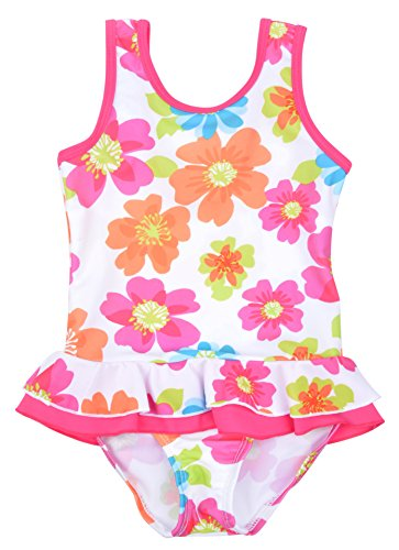 One Piece Swimsuit for Little Girls US 6 Flower