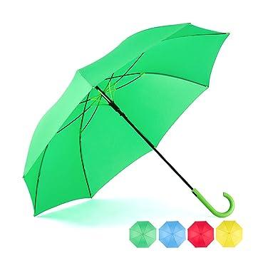 ec2fd2d9a8a85 RUMBRELLA Green Umbrella Auto Open with J Hook Handle, 50IN Stick Umbrellas  Windproof
