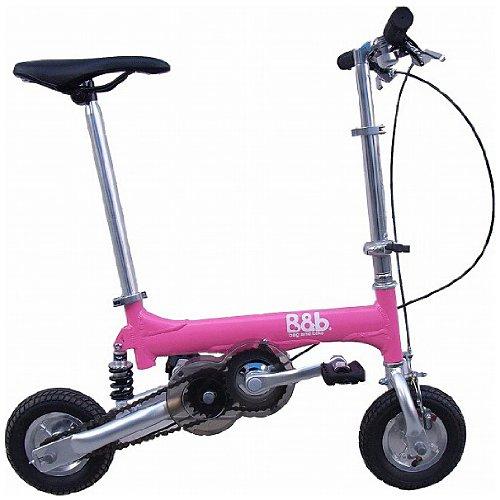Bag&bike(バッグアンドバイク) ノーパンクタイヤ 発泡エラストマー マイクロエアコア(e-コア) を使用携帯折り畳み自転車NP08040Pオールアルミフレーム専用輪行バッグ付き B00BCDU4VE