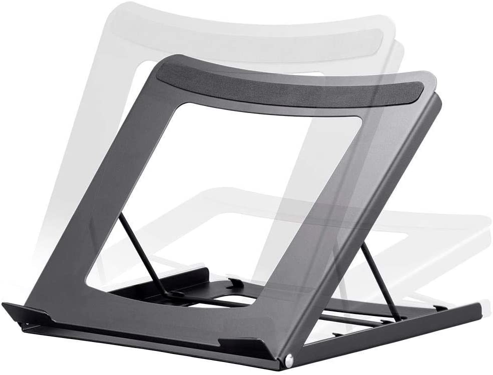 Monoprice 133813 Adjustable Folding Laptop Stand - Steel Ideal For Work, Home, Office Laptops - Workstream Collection