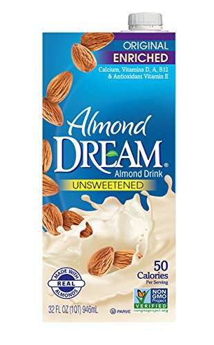 (ALMOND DREAM Enriched Original Unsweetened Almond Drink, 32 fl. oz. (Pack of 12) )
