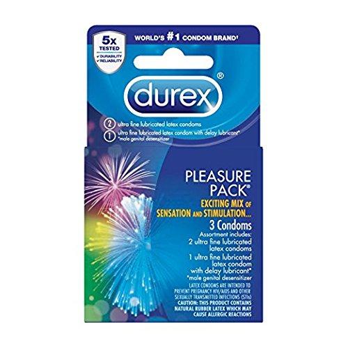 Durex Pleasure Pack Condom, 3 Count