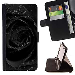 Planetar® Modelo colorido cuero carpeta tirón caso cubierta piel Holster Funda protección Para HTC One Mini 2 M8 MINI ( Agua de Rosas brillo romántico oscuro )
