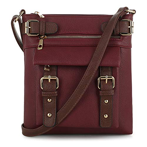 Jessie & James 2 Toned Belt Concealed Carry Crossbody Bag with Lock and Key | Wine