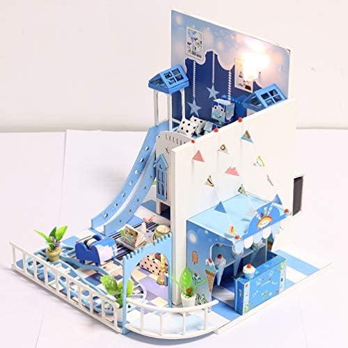 Toyvian DIY House Kit Miniature Crafting Educational Toy Room Modell Holz Haus Handmade Modell mit Möbeln für Kinder Geschenkspielzeug