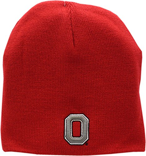Ohio State Buckeyes Skull Knit Hat Red Logo Block (Ohio State Knit Hat)