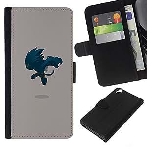 JackGot ( Monster Saltando ) HTC Desire 820 la tarjeta de Crédito Slots PU Funda de cuero Monedero caso cubierta de piel