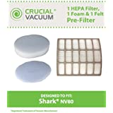 Shark NV80 UV420 HEPA Filter, Foam & Felt Filter, Part # XHF80 & XFF80