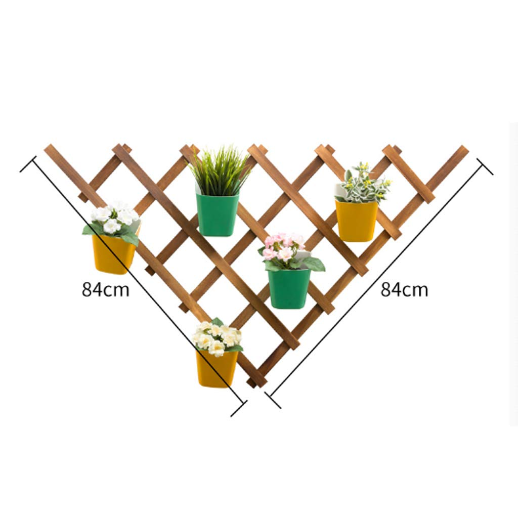 Della Parete del Fiore Fiore di Legno Spazio Interno Cellulare risparmiando Pieghevole Balcone Fiore Tre Stili (colore   B)