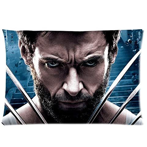 Jozabe Custom Personalized Zippered Pillow Case Cover Hot Movie X-Men Wolverine Poster Pattern Pillowcase DIY pillowslips 20x30 Inch (Two (Wolverine Xmen Bedding)