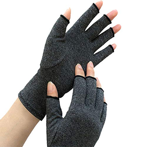 (Arthritis Compression Gloves, One Fingerless Pair Relieve Pain of Rheumatoid and Osteoarthritis. Alleviate Symptoms of Carpal Tunnel Tendinitis and RSI for Everyday Use for Men & Women (Medium))