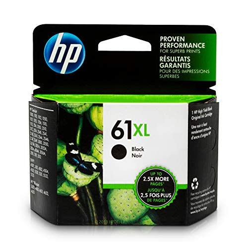 Capacity Remanufactured Ink - HP 61XL Black Ink Cartridge Black (CH563WN) for HP Deskjet 1000 1010 1012 1050 1051 1055 1056 1510 1512 1514 1051 2050 2510 2512 2514 2540 2541