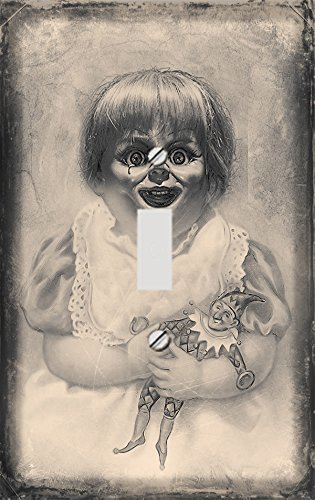 Vintage Horror Doll Decorative Switchplate Cover (Scary Doll Look For Halloween)