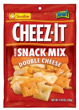 Cheez It Snack Mix Double Cheese 4.25 oz. (Pack of 6)