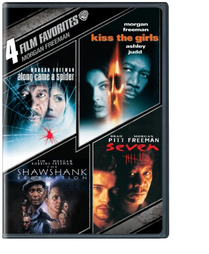 4 Film Favorites  Morgan Freeman  Dvd   Along Came A Spider  Kiss The Girls  Seven  Shawshank Redemption