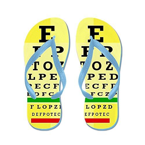Cafepress Eye Chart Ff 5.png - Flip Flops, Grappige String Sandalen, Strand Sandalen Caribbean Blue