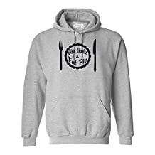 Give Thanks and Eat Pie Thanksgiving Mens Womens Hoodie Sport Grey 2XL
