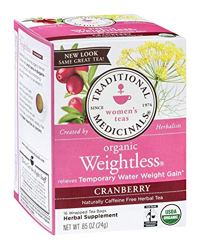 Traditional Medicinals Organic Weightless Tea Cranberry, 16 Bags (Pack - 6) (Diet Sierra Mist Cranberry)
