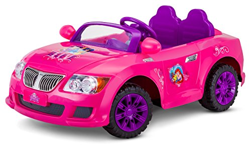 Disney Princess Convertible 12V Electric Ride on, Pink Ages 3-7 (Princess Car)