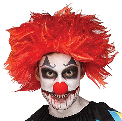 Killer Clown Wig Costume Accessory