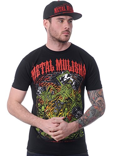 Metal Mulisha T-Shirt Mayhem Hand Drawn Schwarz-rot