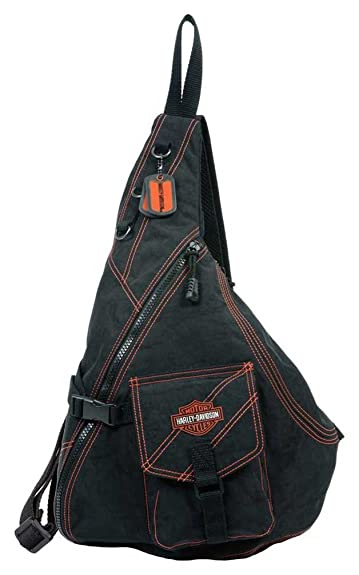 Harley-Davidson¨ Women's Rally Sling Bag Purse. Crinkle Nylon ...