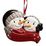 GiftsForYouNow Engraved Snowman Couple Personalized Ornament