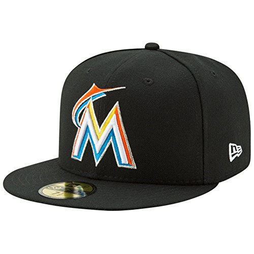 - New Era 59FIFTY Miami Marlins MLB 2017 Authentic Collection On Field Home Fitted Cap Size 7 1/4
