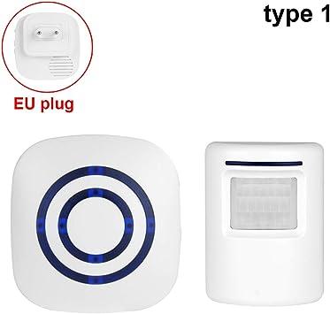 EBILUN Sensor de movimiento Timbre de puerta para negocios Kit de timbre para exteriores Alarma de entrada de coche inalámbrico Detector de infrarrojos con indicador LED Tipo 1: Amazon.es: Bricolaje y herramientas