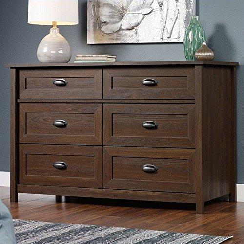 Sauder County Line Dresser with Rum Walnut Finish