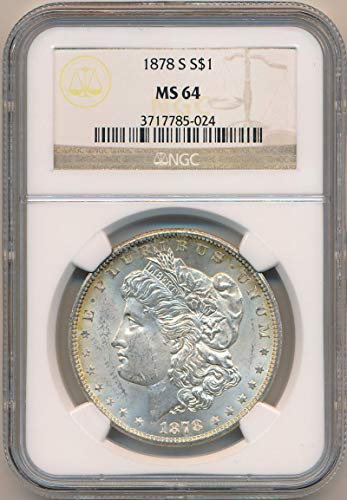 1878 S Morgan Dollar Dollar MS64 NGC