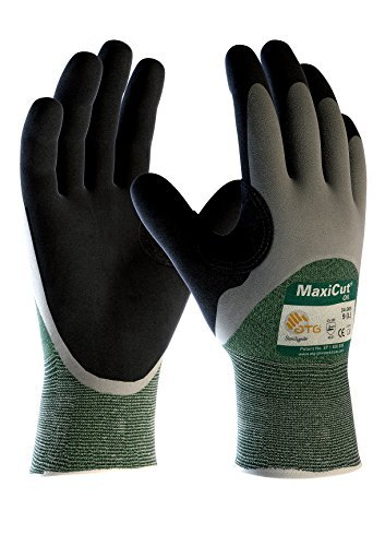 5 Pair MaxiCut Oil work gloves, cut protection level 3, Size:XL by DBI Trading by DBI Trading