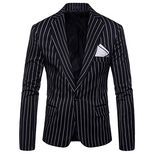 Leisure Mode Simple Black Men Bercici Bouton Casual Boutique Blazers Jacket z0IzwEq