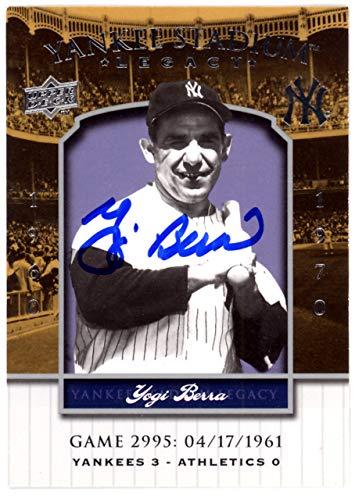 Yogi Berra Autographed 2008 Upper Deck Yankee Stadium Legacy Game Card #2995 New York Yankees Steiner SKU #126184