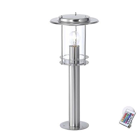 lámpara de pie lámpara de jardín a distancia regulable ...