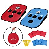 G4Free Portable Collapsible Cornhole Game Set with 8 Bean Bags and Travel Carrying Case Size 3ft x 2ft