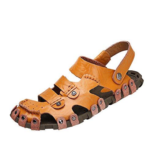 Hand zu bauen Echtleder Männer Sandalen Strand Schuh Umweltschutz Dualer Gebrauch Sandalen ,braun,US=7,UK=6.5,EU=40,CN=40