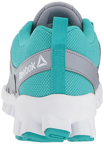 Reebok Donna Realflex Treno 4.0 Scarpe Cross-trainer Ombra Cool / Teal Solido / Bianco