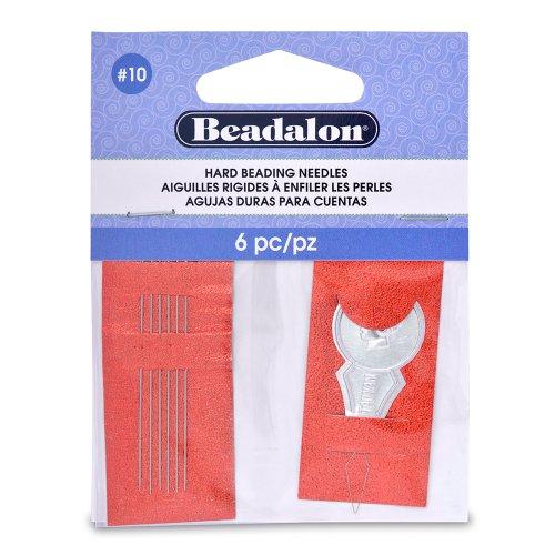 Beadalon Hard Needles #10 6 Pieces + 1 Threader ()