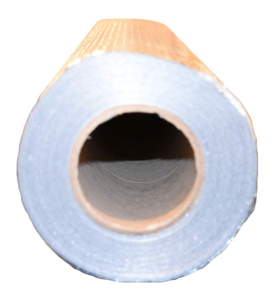 Commercial Grade Perforated Aluminum No Tear 4ft x 125ft Roll Double Sided Attic Insulation, Windows, Garages, Greenhouses US Energy Products Radiant Barrier Reflective Foil Insulation 500sqft