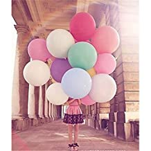 10colors 5pcs 36 Inch Giant Latex Balloon for Birthday Wedding Party Decoration (Clear)